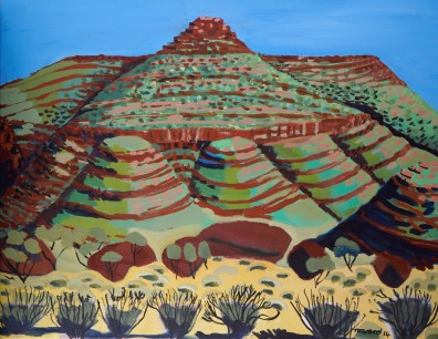 Finke Riverbed with Hill near Hermannsburg 2014 SOLD