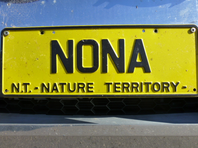 N.T. number plate has my number