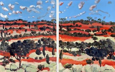 Red Sandhills 2011 (Diptych) SOLD