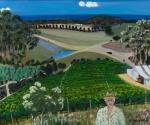 Painting titled Cape Bernier Vineyard